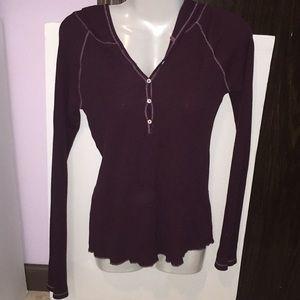Old Navy purple thermal hoodie. Size Medium.